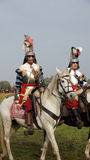 Солдаты на лошадях на сражении Grolle Стоковое фото RF