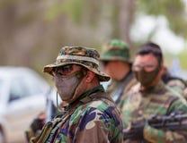 Солдаты ратников конкуренции спорт дилетанта стоковые фотографии rf
