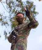 Солдаты ратников конкуренции спорт дилетанта стоковые изображения