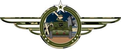 Солдат армии шаржа в танке Стоковое фото RF
