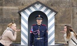 Солдат в фронте Стоковые Изображения