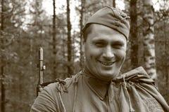 Солдат Красной Армии человека действующий Стоковое фото RF