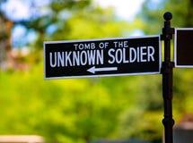 Солдат национального кладбища Арлингтона неизвестный Стоковые Изображения