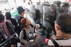 Солдат протестующего воюя Стоковые Изображения