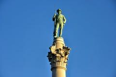 ` Солдат Confederate & ` матросов памятник Стоковое Фото