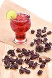 Сода Яблока итальянская с лист мяты на белой предпосылке Стоковое Изображение
