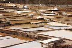 Солевой рудник террас Стоковая Фотография RF