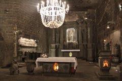 Солевой рудник Wieliczka в Польше Стоковые Изображения
