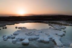 Соленая вода мертвого моря Стоковая Фотография