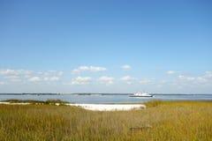 Соленое болото, Северная Каролина Стоковые Изображения RF