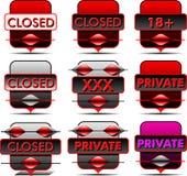Содержание значка частное Стоковые Изображения RF