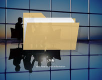 Содержание индекса файлов детализирует концепцию архивов документа Стоковые Фото