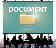 Содержание индекса файлов детализирует концепцию архивов документа Стоковое Изображение