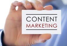 Содержимый маркетинг стоковое изображение