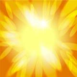 Солнечная абстрактная предпосылка Стоковая Фотография