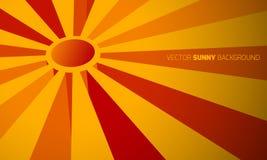 Солнечная абстрактная предпосылка Стоковые Изображения