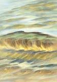 Солнечная акварель воды Стоковые Изображения RF