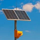 Солнечная батарея на светофоре Стоковое Изображение RF