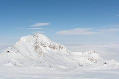 Солнечная зона над облаками - Австрия Dachstein Стоковые Изображения