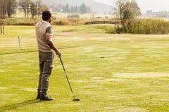 Солнечная игра гольфа Стоковые Изображения RF