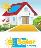 Солнечная компания Концепция и логотип иллюстрация штока