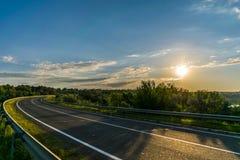 Солнечная дорога Стоковая Фотография