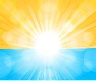 Солнечная предпосылка иллюстрация штока