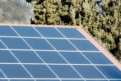 Солнечная система для того чтобы произвести substainable энергию Стоковое фото RF