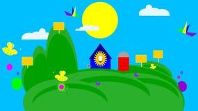 Солнечная энергия в гармонии с природой Стоковое Изображение