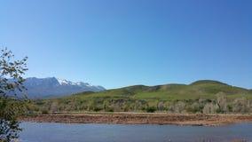 солнечний свет ряда горы состава естественный Стоковые Изображения RF