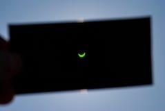 Солнечное затмение в Польше Стоковые Фотографии RF