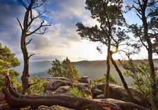 Солнечное после полудня в горах Стоковое фото RF