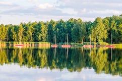 Солнечное после полудня озером Стоковое фото RF