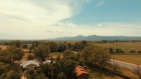 Солнечное после полудня снятое в Больдэре Колорадо Стоковые Изображения