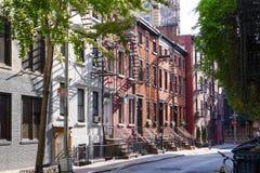 Солнечность на улице гомосексуалиста в Гринич-виллидж Нью-Йорке Стоковая Фотография RF