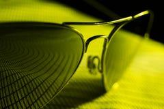 Солнечные очки авиатора конструируют, наблюдают, путешествуют, объект очарования Стоковые Фото