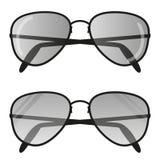 Солнечные очки авиатора Пилотные стекла плоские иллюстрация штока