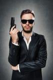 Солнечные очки агента Стоковое фото RF