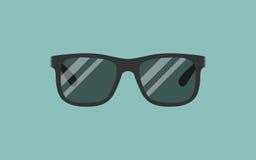 Солнечные очки вектора серые солнечные очки на голубой предпосылке Иллюстрация штока