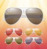 Солнечные очки. Значки вектора Стоковое Фото