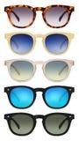 солнечные очки изолированные предпосылкой белые Стоковое Изображение