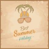 Солнечные очки и пальмы иллюстрация штока