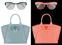 Солнечные очки и сумки Стоковое Изображение