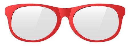 Солнечные очки красного цвета вектора Стоковые Фото