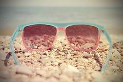 Солнечные очки модных женщин Стоковая Фотография