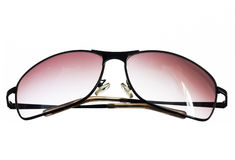 Солнечные очки на белой предпосылке Стоковое фото RF