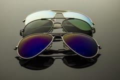 Солнечные очки 3 пары Стоковые Изображения