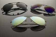 Солнечные очки 3 пары Стоковое Изображение RF