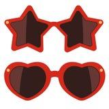 солнечные очки предпосылки белые также вектор иллюстрации притяжки corel Иллюстрация штока