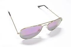 солнечные очки предпосылки белые Стоковое Фото